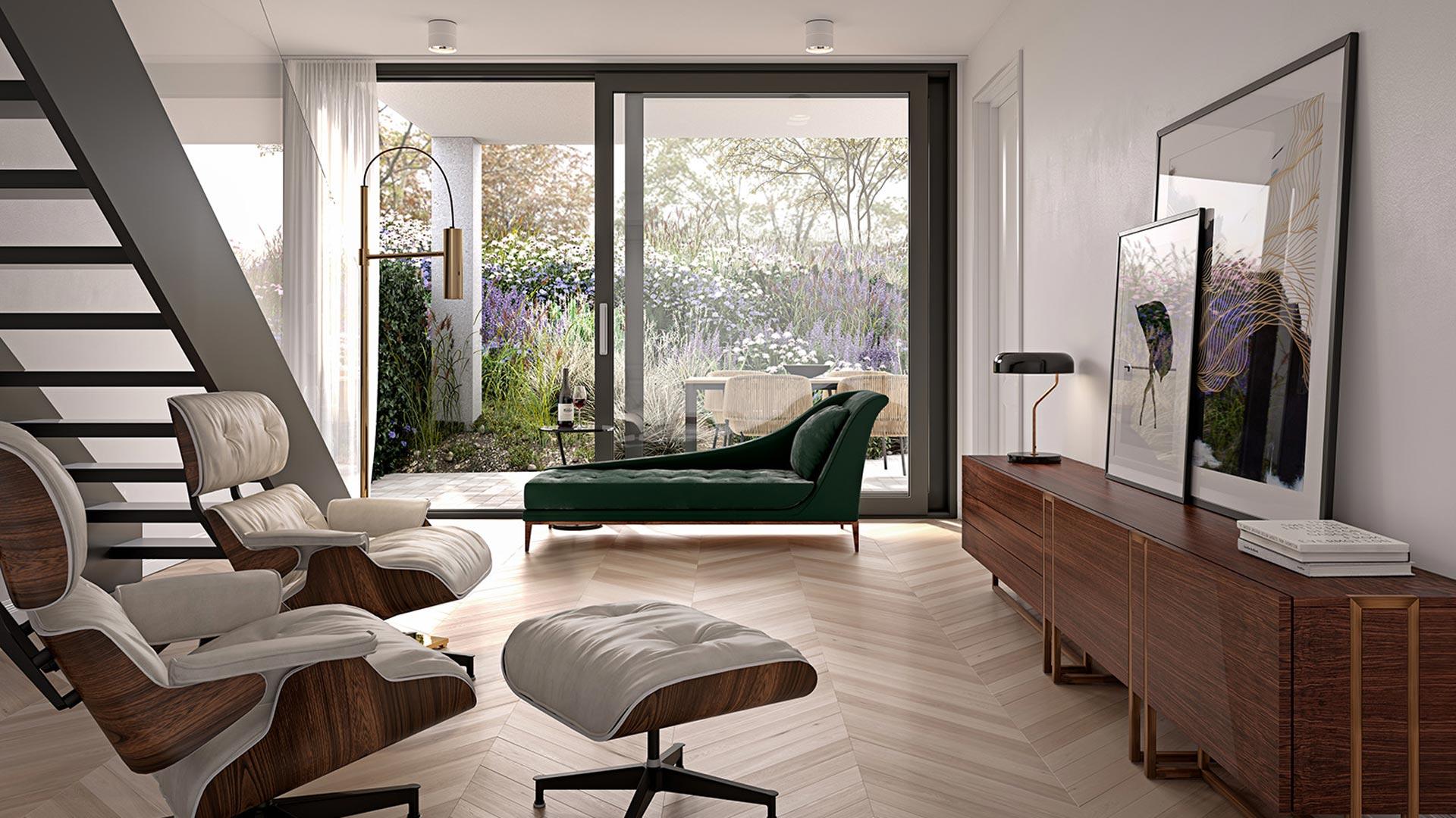 Type B - Interieur Woonkamer - Appartementen - Elion Park