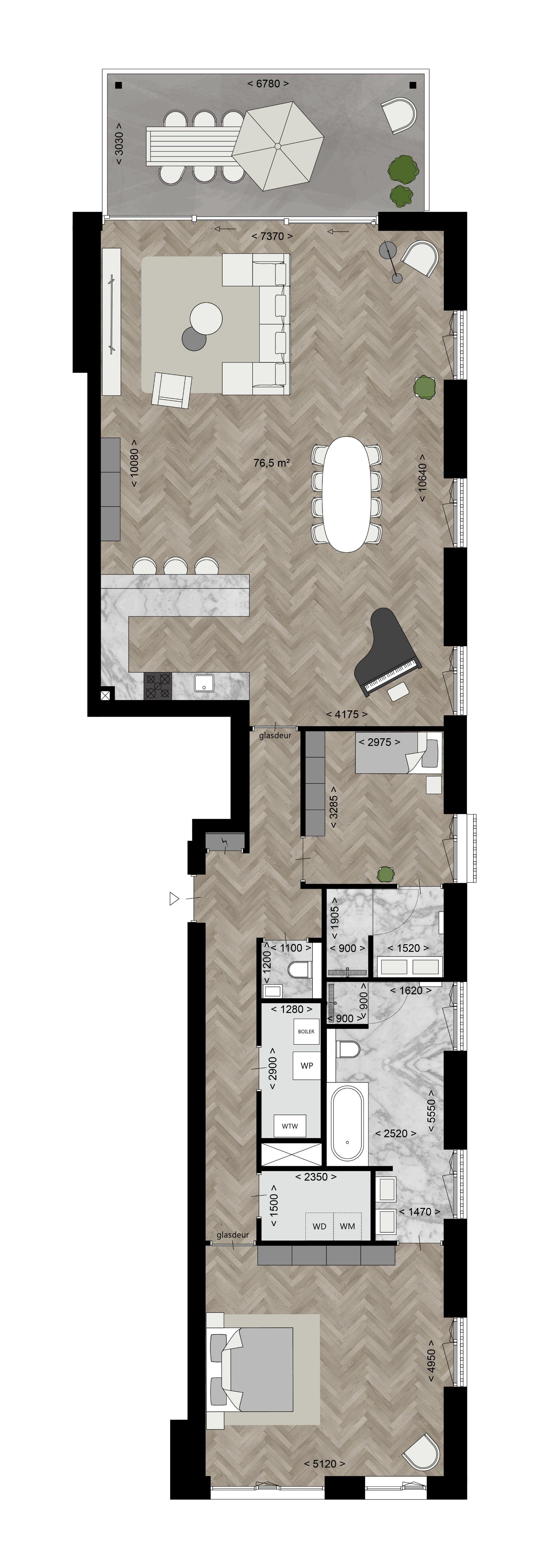 Type E - Appartementen Plattegronden - Bouwnummer 8 - Elion Park