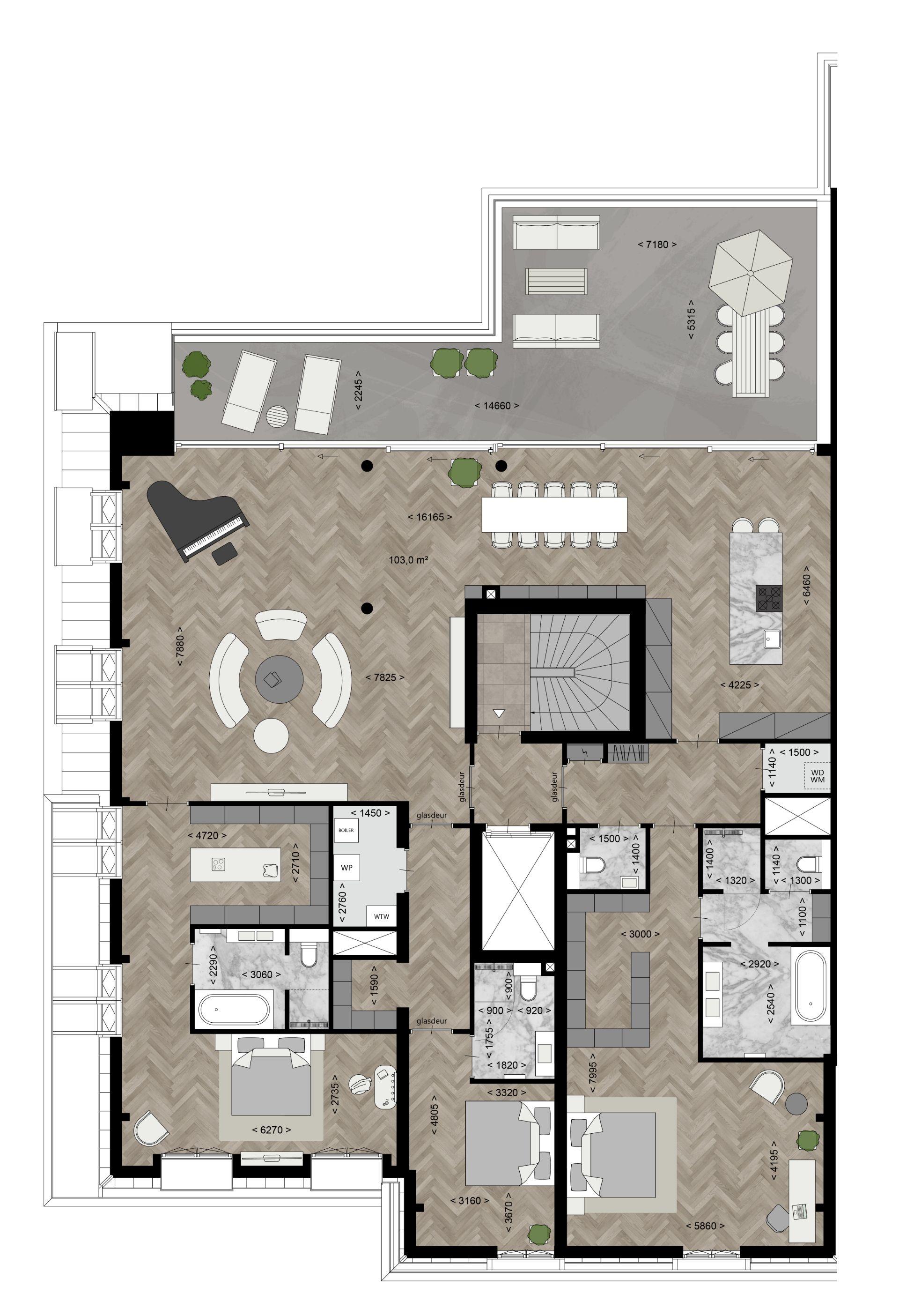Type F - Appartementen Plattegronden - Bouwnummer 21 - Elion Park
